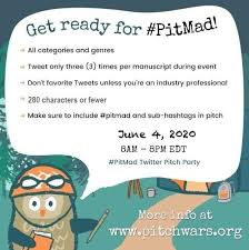 "Pitch Wars on Twitter: ""Authors! Agents! Editors! The next #PitMad is  coming up in just under 2 weeks. You can find all the information you need  to know to participate here: https://t.co/pVERhtOtgJ…"